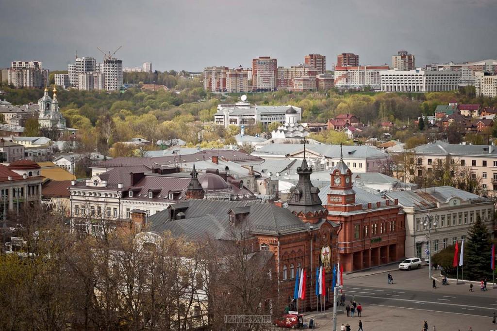 Город Владимир Вид с колокольни на 1 мая 06