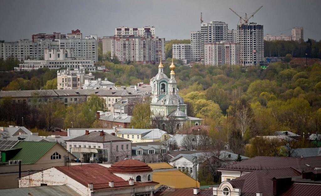 Город Владимир Вид с колокольни на 1 мая 08