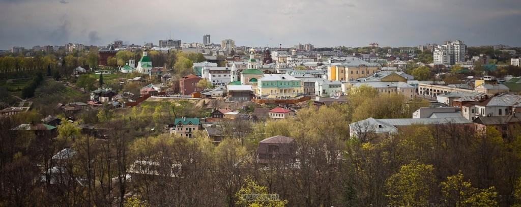 Город Владимир Вид с колокольни на 1 мая 09