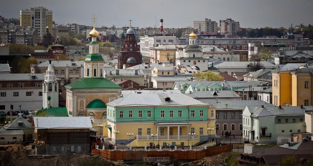 Город Владимир Вид с колокольни на 1 мая 10