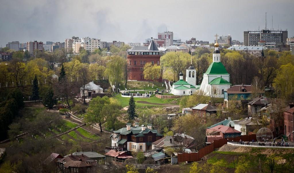 Город Владимир Вид с колокольни на 1 мая 11