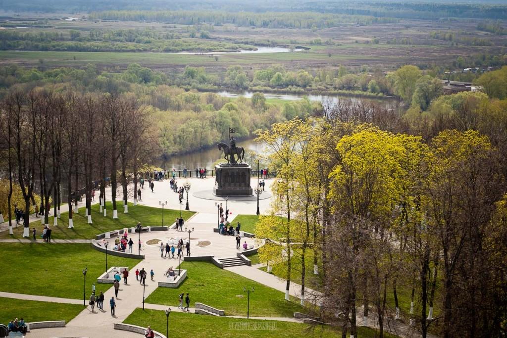 Город Владимир Вид с колокольни на 1 мая 13