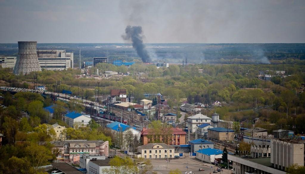 Город Владимир Вид с колокольни на 1 мая 14