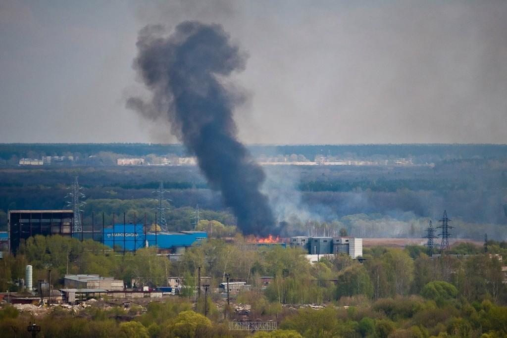 Город Владимир Вид с колокольни на 1 мая 15