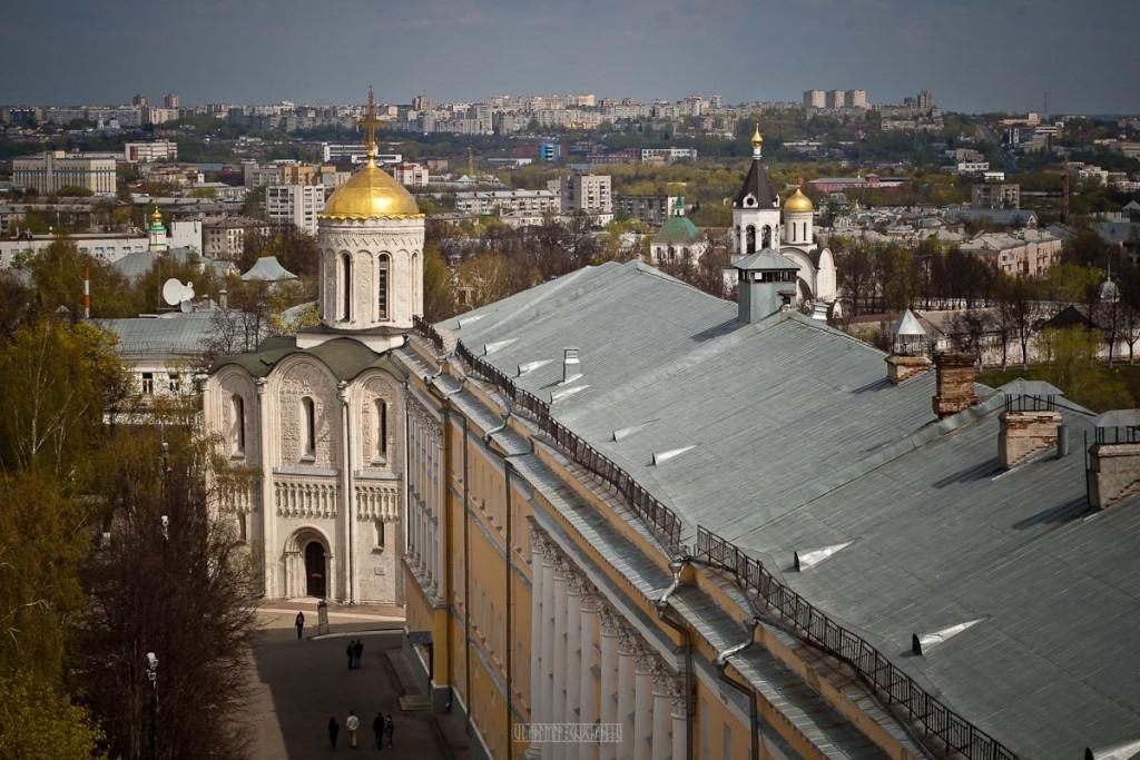Город Владимир Вид с колокольни на 1 мая 16
