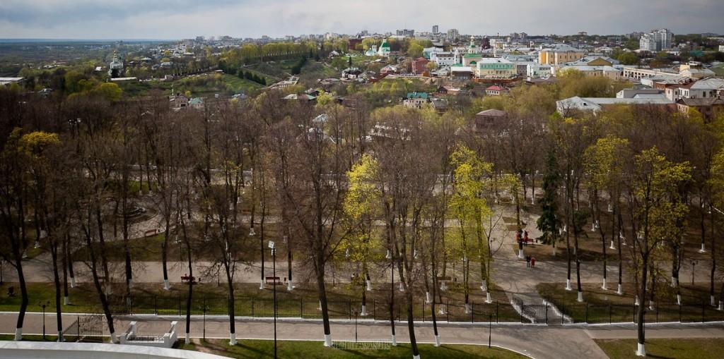 Город Владимир Вид с колокольни на 1 мая 17