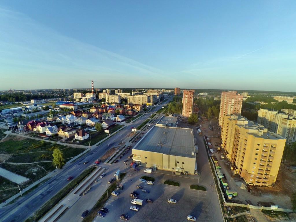 Город Ковров с высоты 07