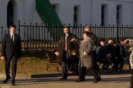 Губернатор на смотровой площадке в парке Вишенка