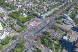 День Победы 2016 во Владимире с высоты