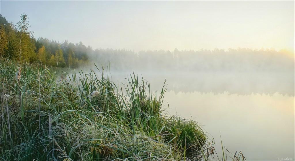 Кипит над озером таинственный туман