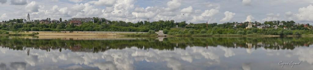 Панорамы Мурома с Оки 03