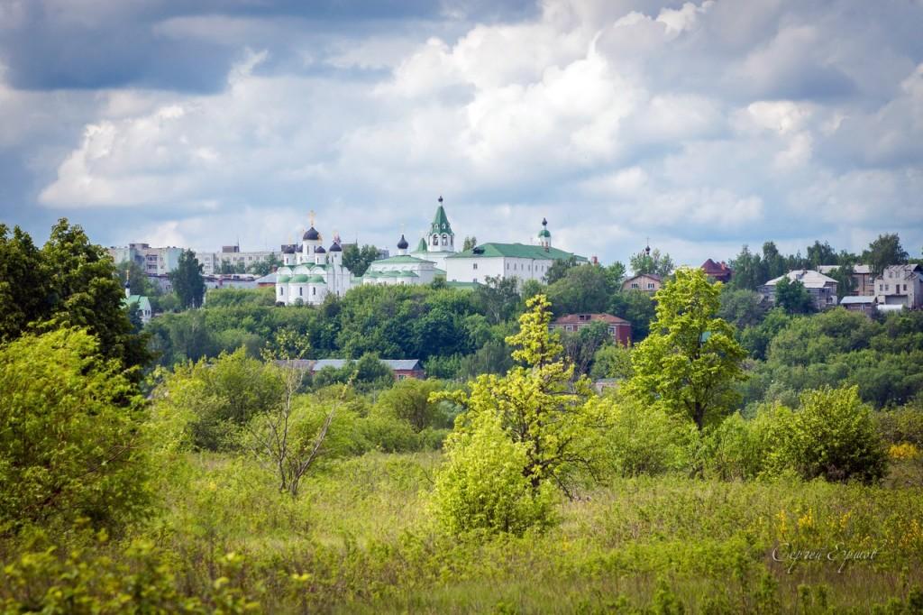 Спасо-Преображенский монастырь в Муроме (Вид из Нижегородской обл.)