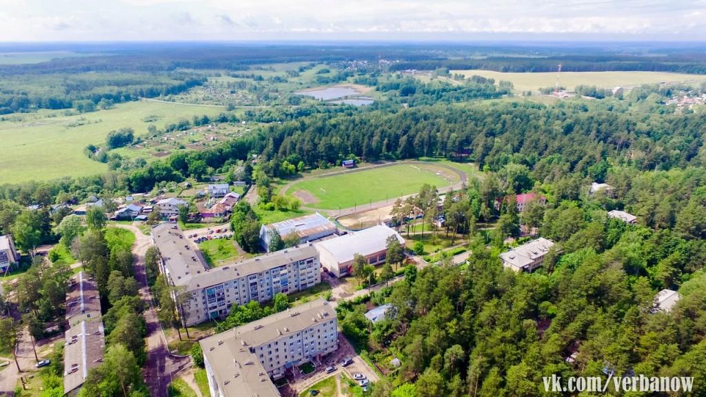 Вербовский, вид с высоты на ФОК и стадион