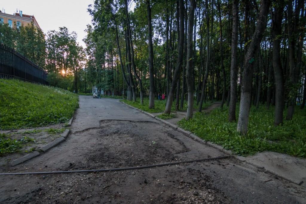 Вопрос восстановления парка на ул. Горького 03