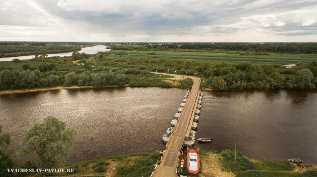 Вязниковское заречье. Понтонный мост через реку Клязьму