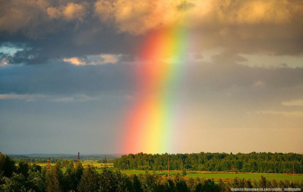 Сочная июньская радуга над Собинским районом 02