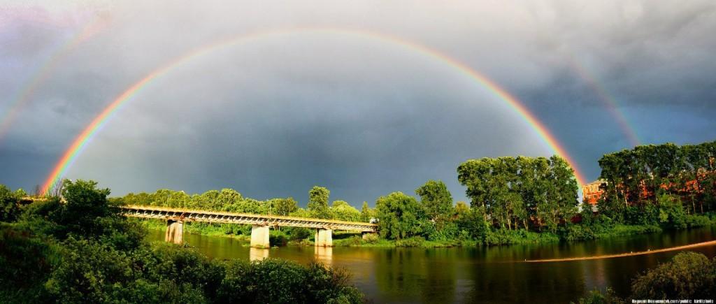Сочная июньская радуга над Собинским районом 04