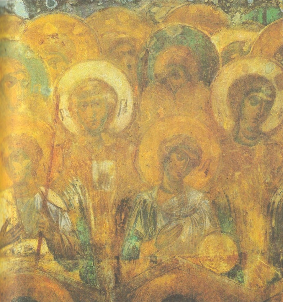 Древние фрески Дмитриевского собора 04