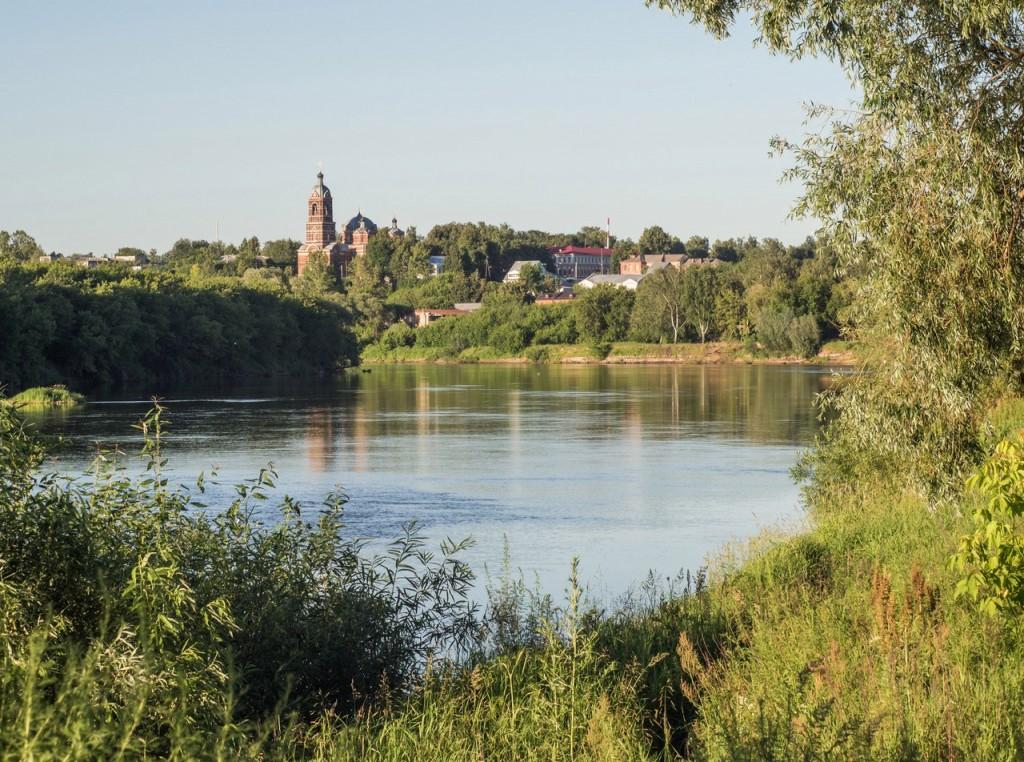 Красивый вид на город Ковров