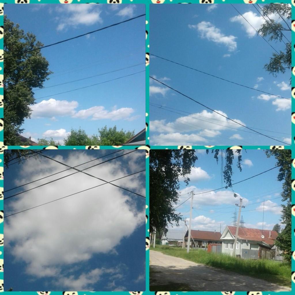 Небо над г. Меленки. Владимирская область (начало июля)