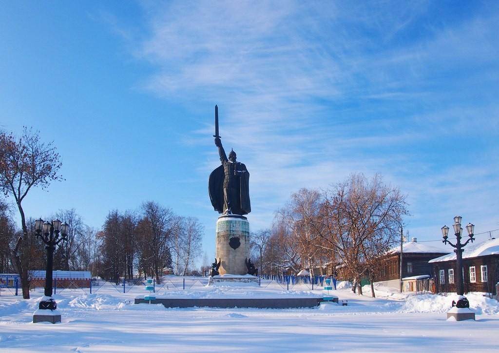 Окский парк и Смотровая площадка с памятником Илье Муромцу 01