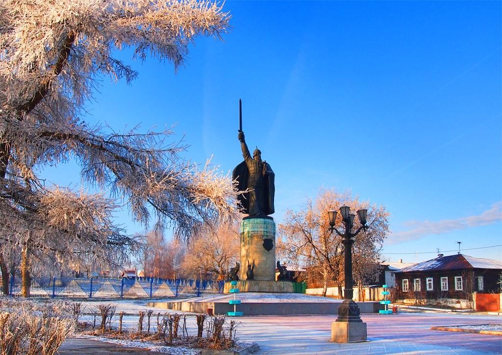 Окский парк и Смотровая площадка с памятником Илье Муромцу 05