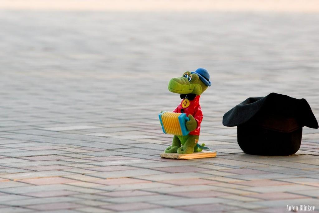 Персонаж на смотровой площадке в парке им. Пушкина