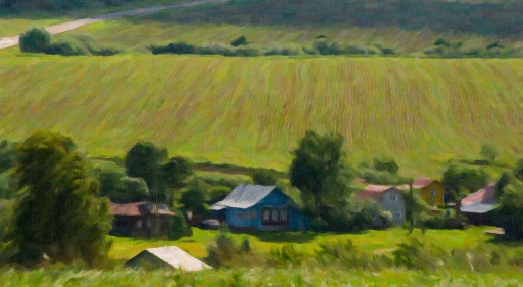 Фотографии Владимирских просторов имитированных под рисунок маслом 01