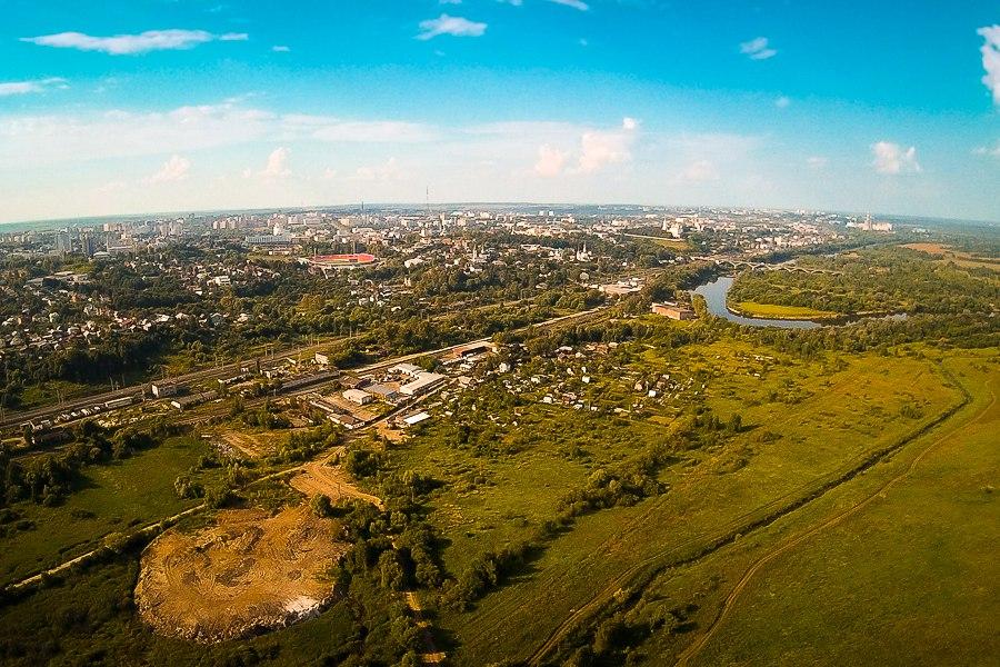 р.Клязьма и вид на город Вязники с южной стороны 02