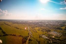 р.Клязьма и вид на город Вязники с южной стороны