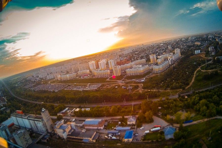 Закат в ЮЗ8 во Владимире с высоты