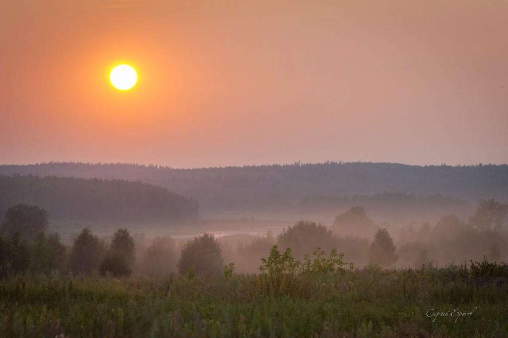 Закат. Река Велетьма