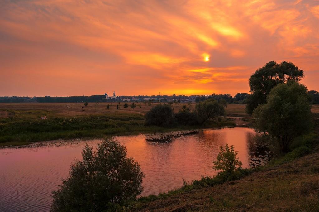 Летний закат Покрова-на-Нерли 09