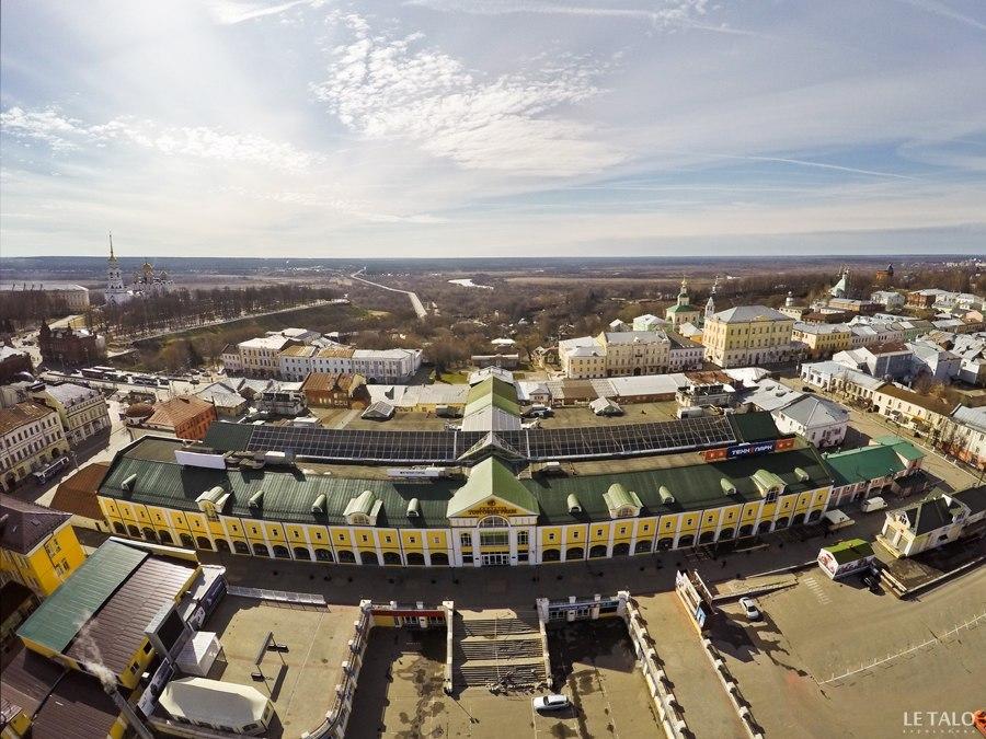 Панорама Северных Торговых рядов, Владимир