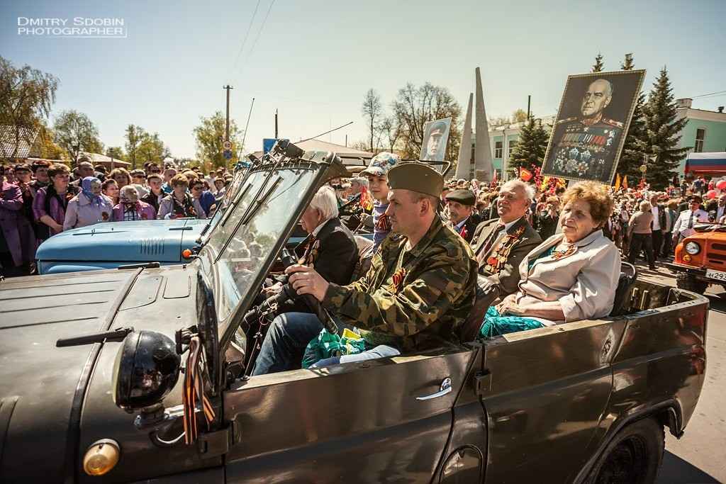 Парад, салют 9 Мая 2015 г. Меленки 29