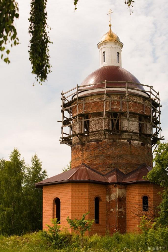 Село Обращиха Суздальского р-на, храм Рождества Иоанна Предтечи
