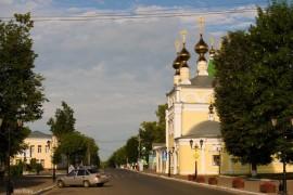 Солнечное летнее утро в Муроме на улице Московской