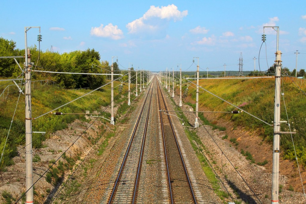 г. Камешково. Железнодорожный перегон между станциями Камешково и Новки