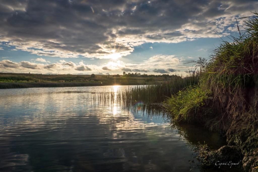 Закат на водохранилище Спасское