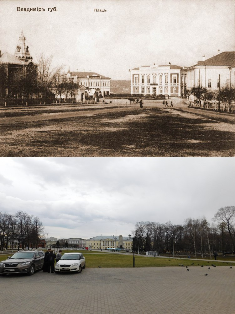 На старой фотографии видна чать плац-парадной площади