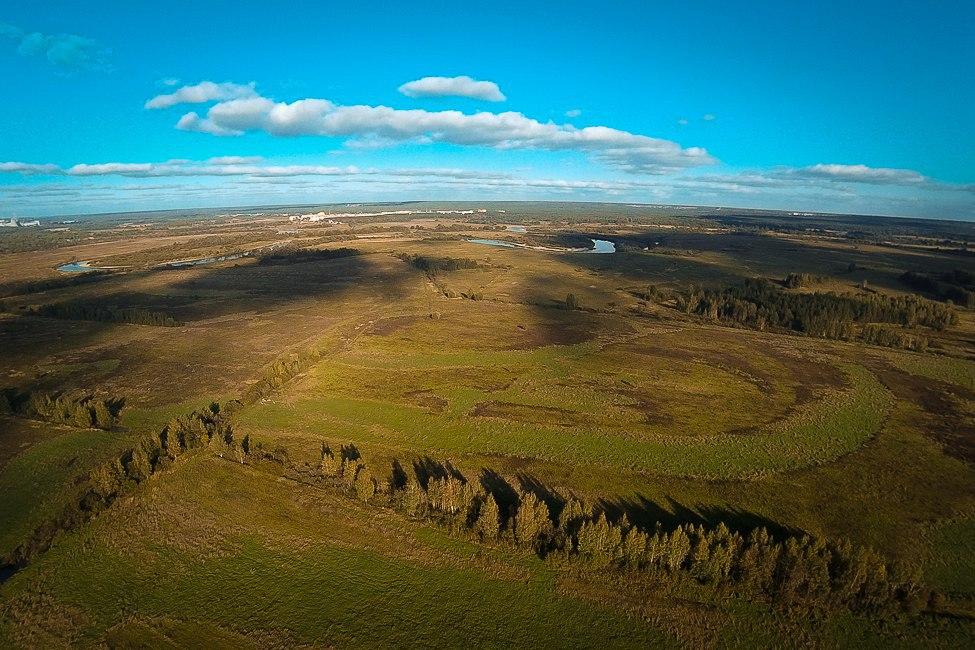 Пойма Клязьмы, поле и вид на юго-запад 05