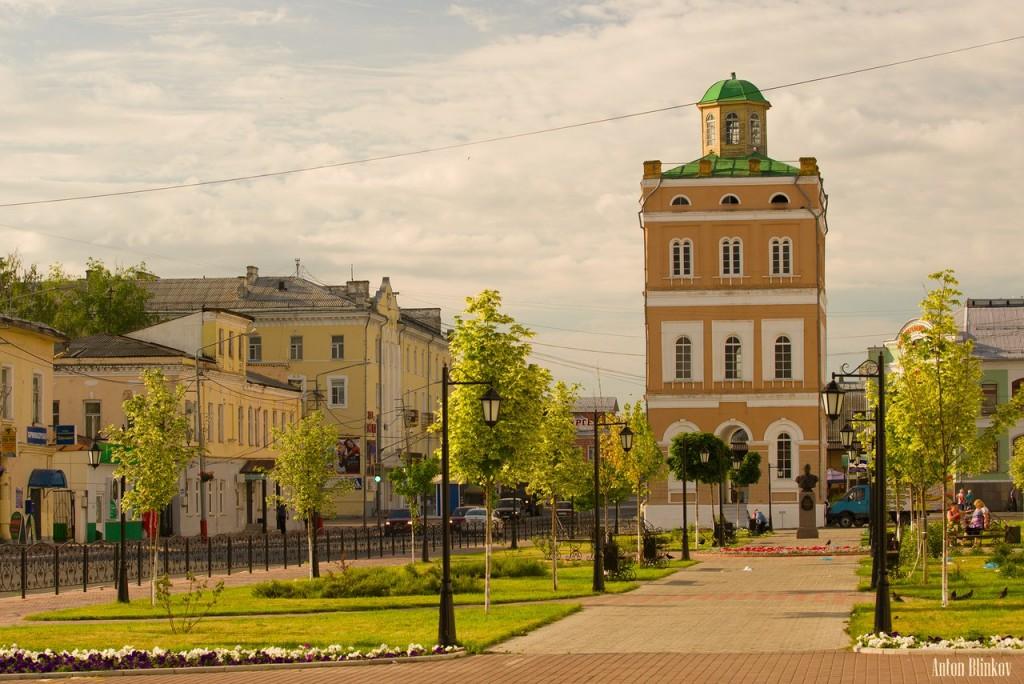 Сквер Ермакова и водонапорная башня