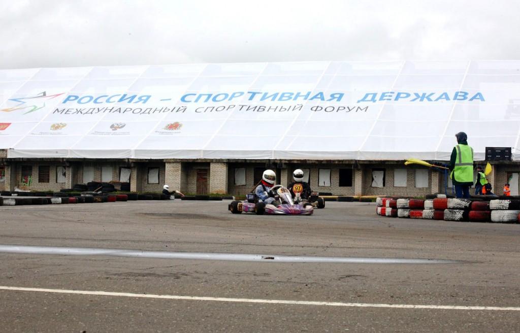 Соревнования по картингу на стадионе Мотодром 09