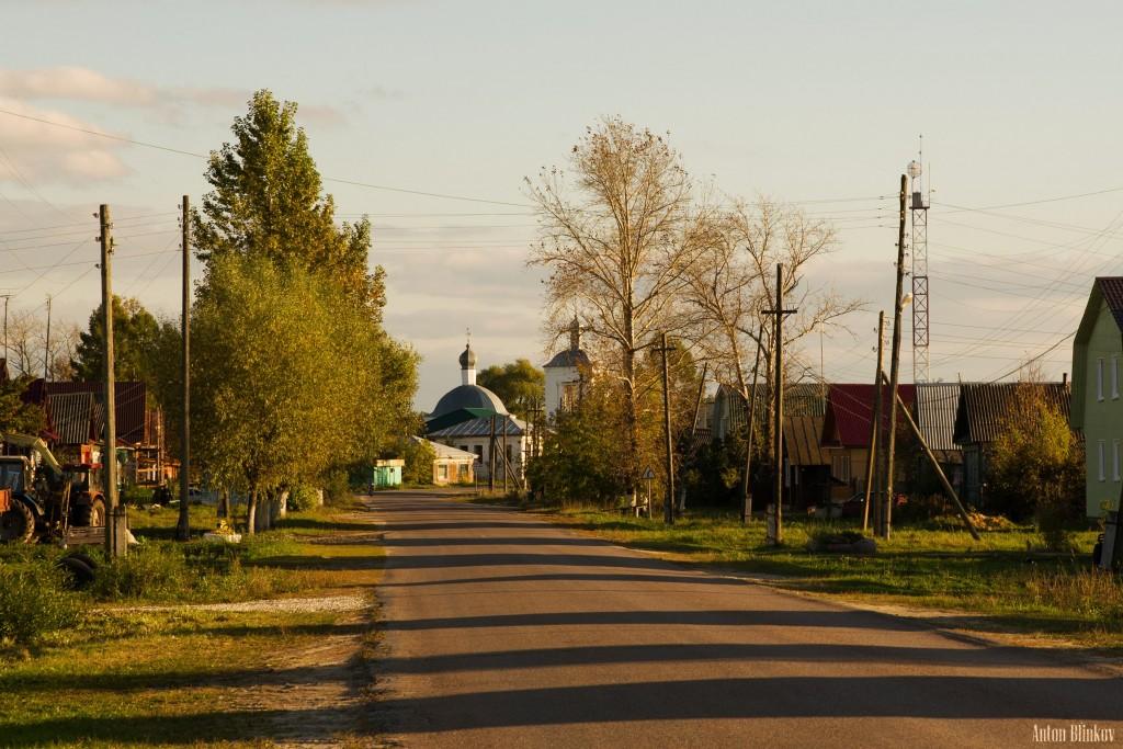 Вечер в селе Архангел. Меленковский р-н