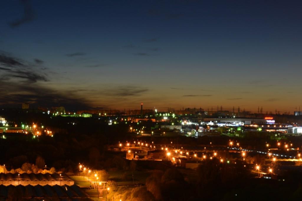 Вид на ночной Владимир из доброго 02