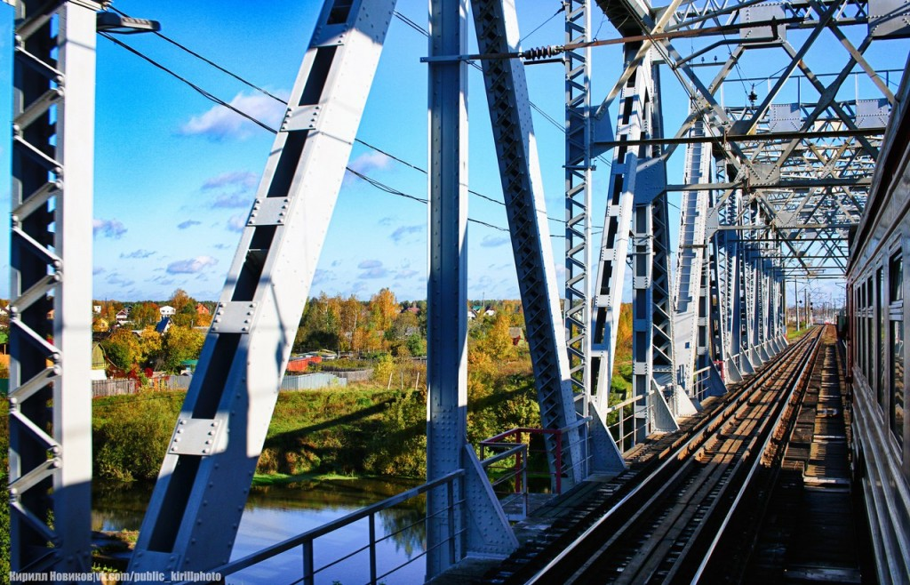 Железнодорожный мост через Клязьму в Усаде