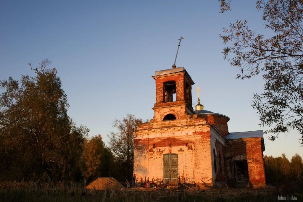 Кудрино. Церковь Николая Чудотворца. Меленковский р-н