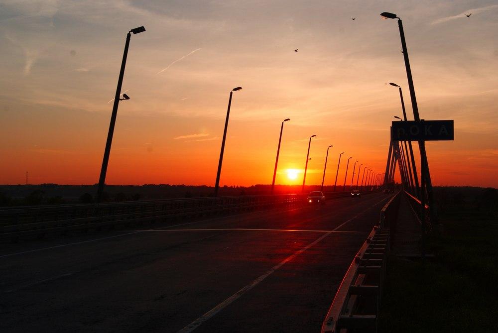 Лето. Закат на Муромском мосту