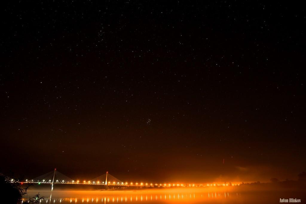 Ночь над р. Ока, г. Муром