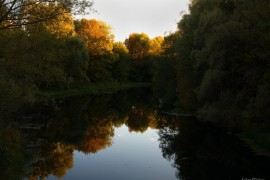 Осенний закат на р. Унжа в г. Меленки